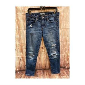 Banana Republic Premium Denim Skinny Ankle Jeans